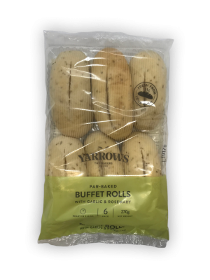 Parbaked rosemary and garlic buffet rolls - 2 packets